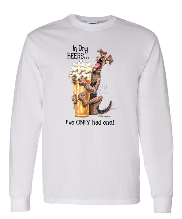 Airedale Terrier - Dog Beers - Long Sleeve T-Shirt