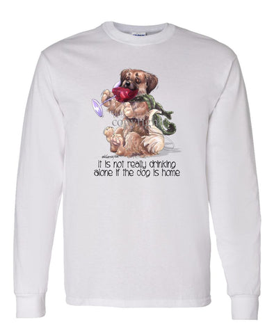 Tibetan Spaniel - It's Not Drinking Alone - Long Sleeve T-Shirt