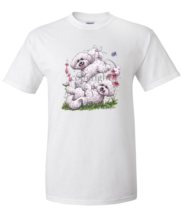Bichon Frise - Group Playing - Caricature - T-Shirt