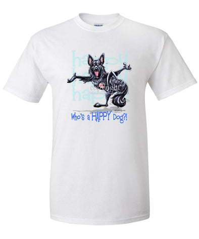 Belgian Sheepdog - Who's A Happy Dog - T-Shirt