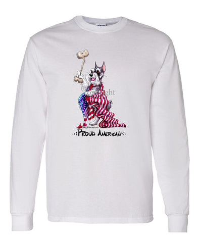 Schnauzer - Proud American - Long Sleeve T-Shirt