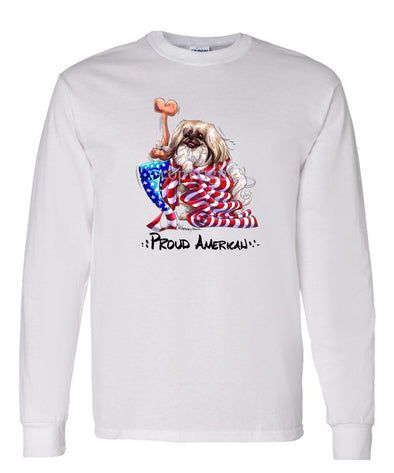 Pekingese - Proud American - Long Sleeve T-Shirt