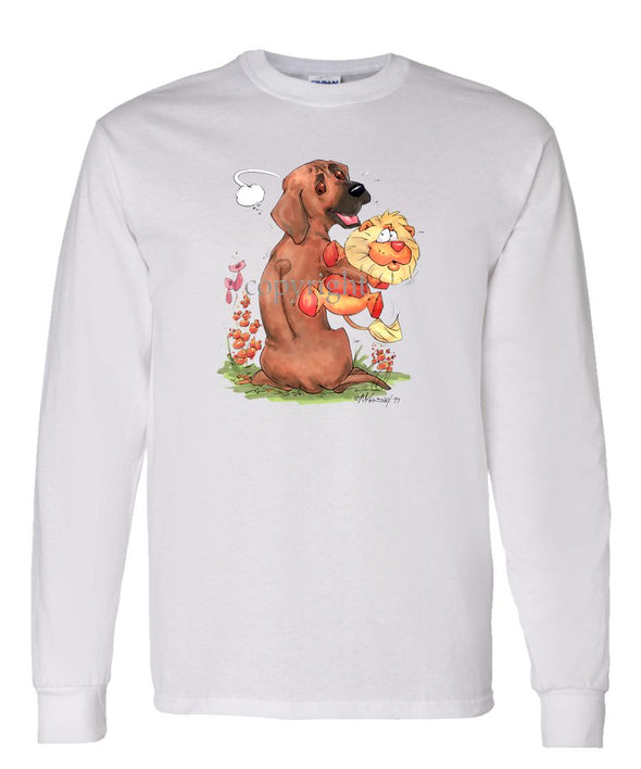 Rhodesian Ridgeback - Stuffed Lion - Caricature - Long Sleeve T-Shirt