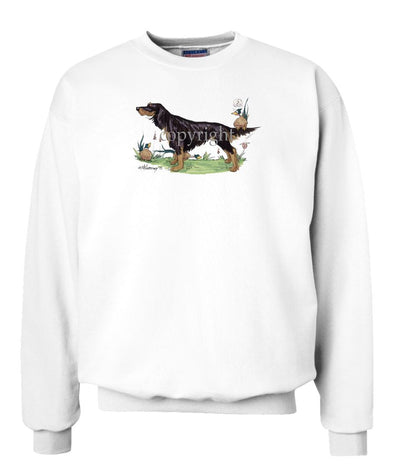 Gordon Setter - Pheasant Sitting On Tail - Caricature - Sweatshirt