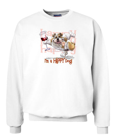 Bulldog - 2 - Who's A Happy Dog - Sweatshirt