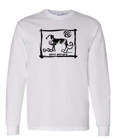 Saint Bernard - Cavern Canine - Long Sleeve T-Shirt
