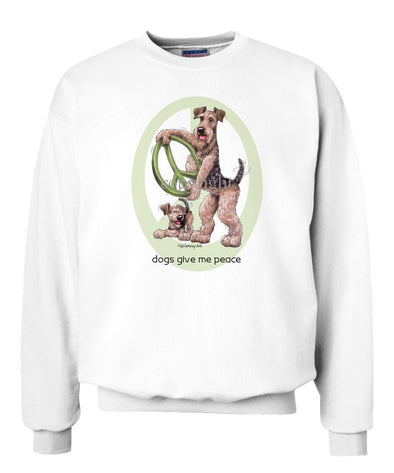 Airedale Terrier - Peace Dogs - Sweatshirt