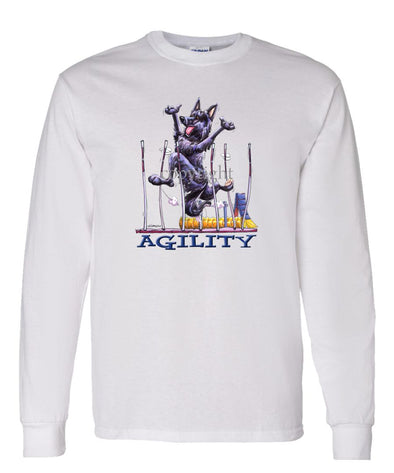 Belgian Sheepdog - Agility Weave II - Long Sleeve T-Shirt