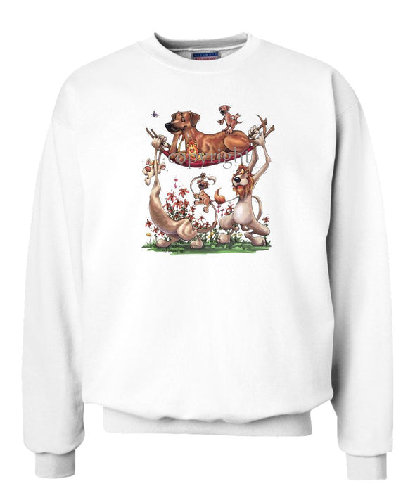 Rhodesian Ridgeback - Lions Carrying - Caricature - Sweatshirt