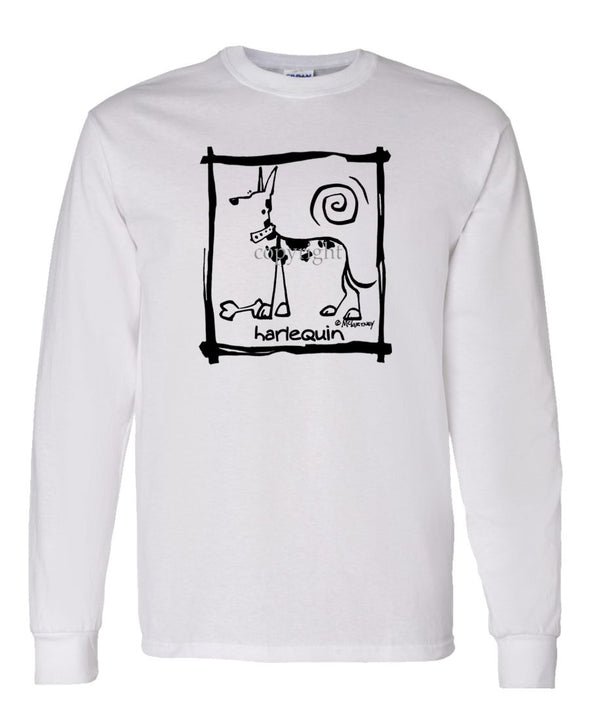 Great Dane  Harlequin - Cavern Canine - Long Sleeve T-Shirt