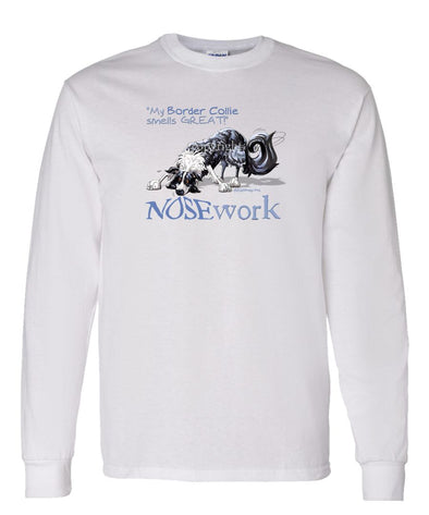 Border Collie - Nosework - Long Sleeve T-Shirt