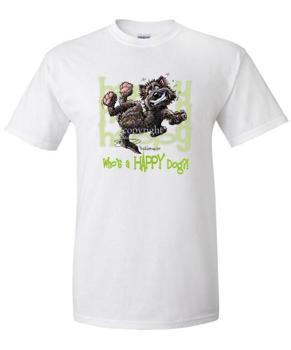 Cairn Terrier - Who's A Happy Dog - T-Shirt