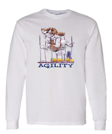 Cavalier King Charles  Blenheim - Agility Weave II - Long Sleeve T-Shirt