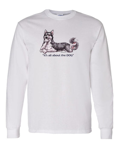 Siberian Husky - All About The Dog - Long Sleeve T-Shirt