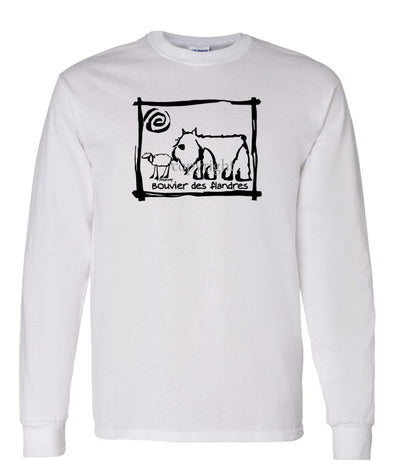 Bouvier Des Flandres - Cavern Canine - Long Sleeve T-Shirt