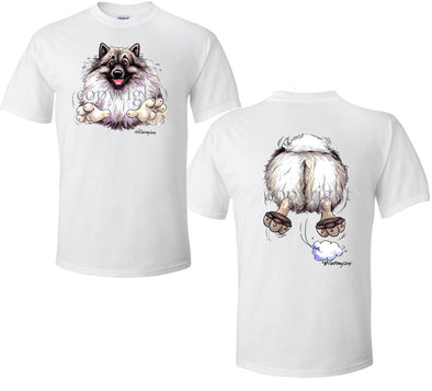 Keeshond - Coming and Going - T-Shirt (Double Sided)