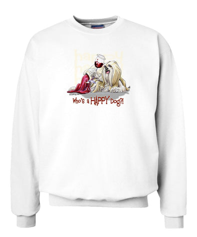 Lhasa Apso - Who's A Happy Dog - Sweatshirt