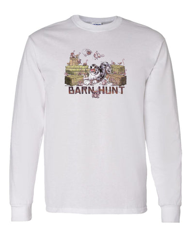 Australian Shepherd  Blue Merle - Barnhunt - Long Sleeve T-Shirt