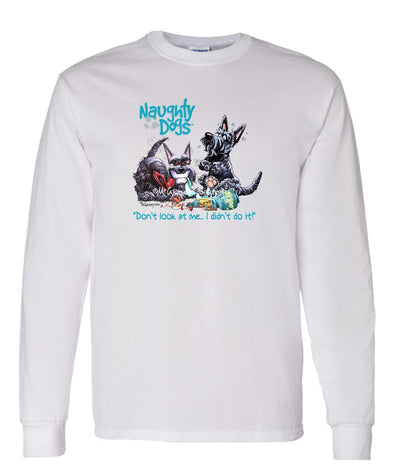 Scottish Terrier - Naughty Dogs - Mike's Faves - Long Sleeve T-Shirt