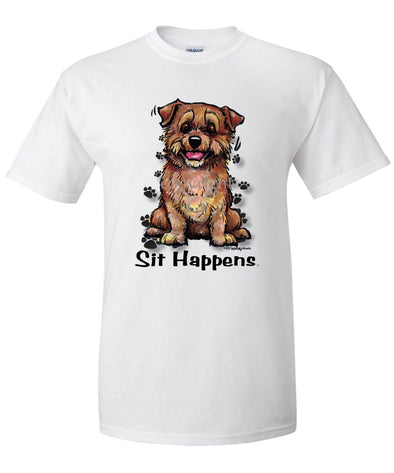 Norfolk Terrier - Sit Happens - T-Shirt