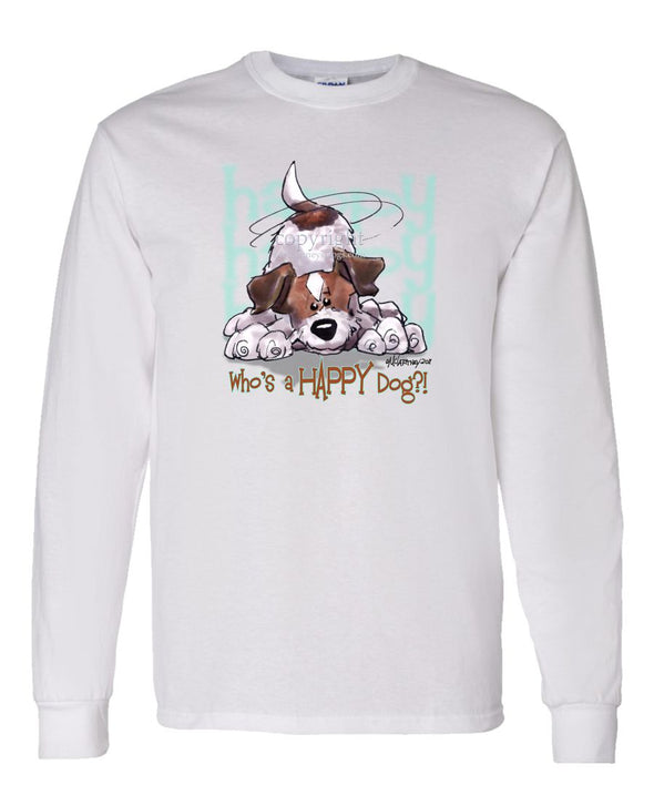 Jack Russell Terrier - Who's A Happy Dog - Long Sleeve T-Shirt