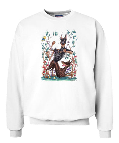 Doberman Pinscher - Group Hommock - Caricature - Sweatshirt