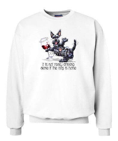 Scottish Terrier - It's Drinking Alone 2 - Sweatshirt