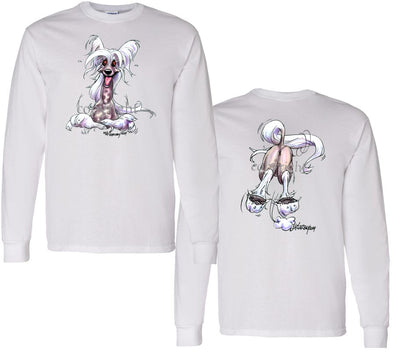 Chinese Crested - Coming and Going - Long Sleeve T-Shirt (Double Sided)