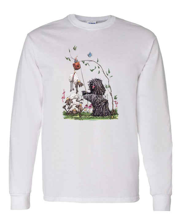 Puli - With Pulley Sheep - Caricature - Long Sleeve T-Shirt