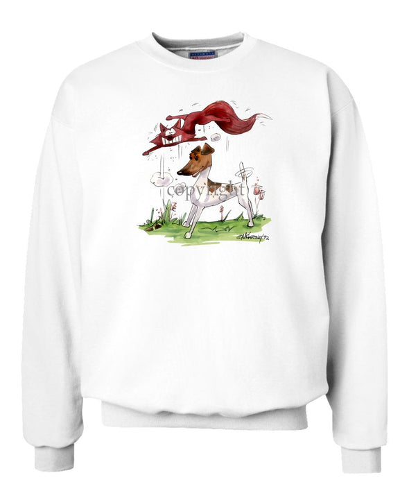 Smooth Fox Terrier - With Fox - Caricature - Sweatshirt