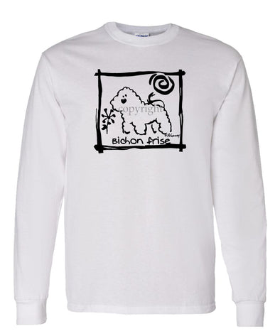 Bichon Frise - Cavern Canine - Long Sleeve T-Shirt