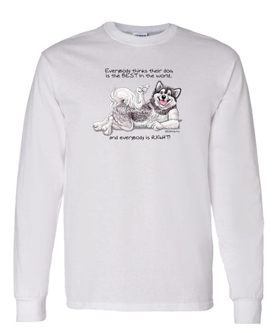 Alaskan Malamute - Best Dog in the World - Long Sleeve T-Shirt
