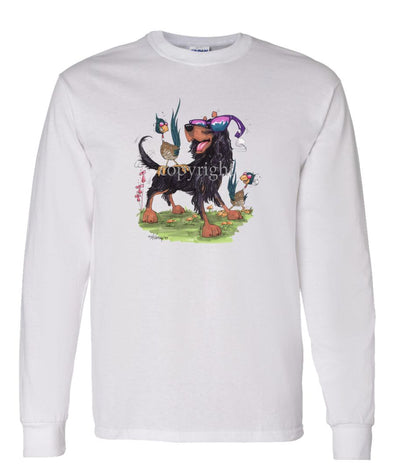 Gordon Setter - With Shades - Caricature - Long Sleeve T-Shirt