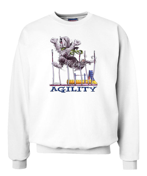 Bearded Collie - Agility Weave II - Sweatshirt