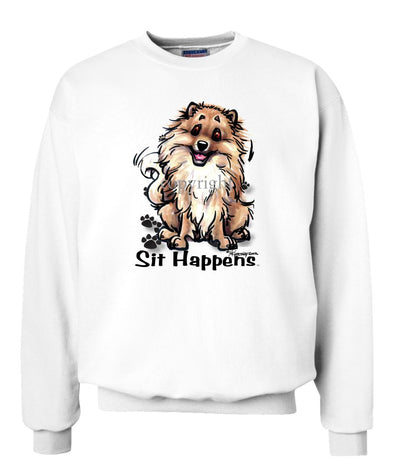 Pomeranian - Sit Happens - Sweatshirt