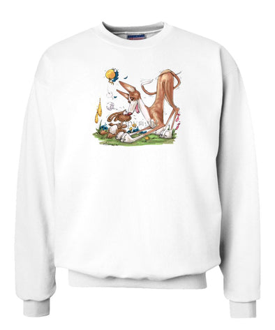 Ibizan Hound - With Rabbit - Caricature - Sweatshirt