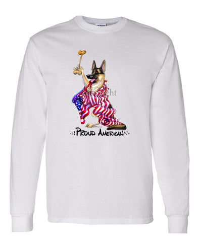 German Shepherd - Proud American - Long Sleeve T-Shirt