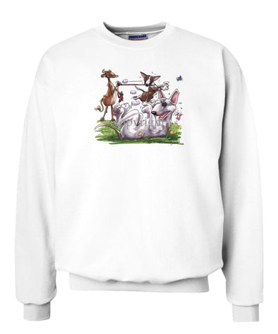 Bull Terrier - Group With Cow - Caricature - Sweatshirt