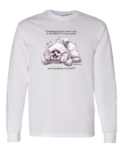 Bichon Frise - Best Dog in the World - Long Sleeve T-Shirt