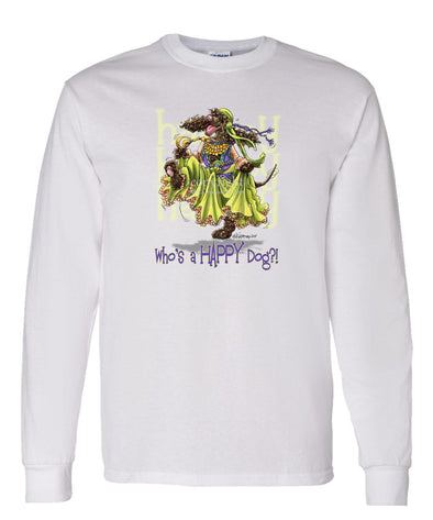 Irish Water Spaniel - Who's A Happy Dog - Long Sleeve T-Shirt