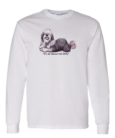 Old English Sheepdog - All About The Dog - Long Sleeve T-Shirt