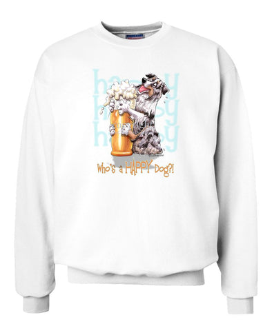 Australian Shepherd  Blue Merle - 2 - Who's A Happy Dog - Sweatshirt