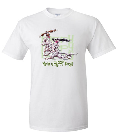English Setter - Who's A Happy Dog - T-Shirt
