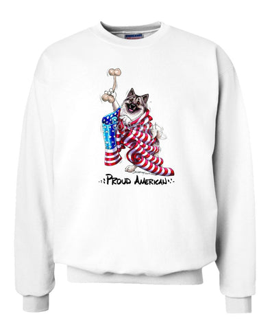 Norwegian Elkhound - Proud American - Sweatshirt