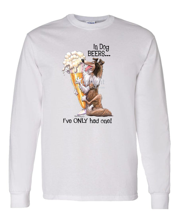 Collie - Dog Beers - Long Sleeve T-Shirt