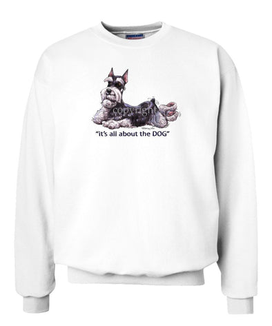 Schnauzer - All About The Dog - Sweatshirt
