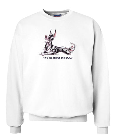 Great Dane  Harlequin - All About The Dog - Sweatshirt