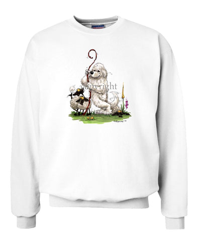 Great Pyrenees - Standing Guarding Sheep - Caricature - Sweatshirt