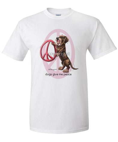 Dachshund  Wirehaired - Peace Dogs - T-Shirt