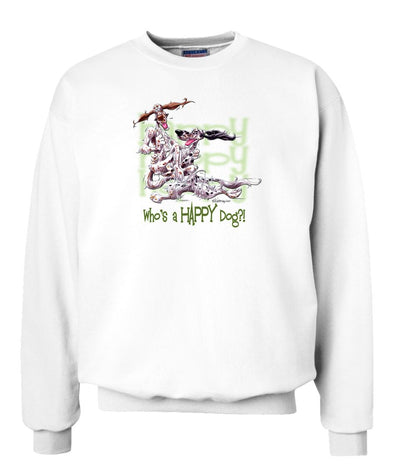 English Setter - Who's A Happy Dog - Sweatshirt